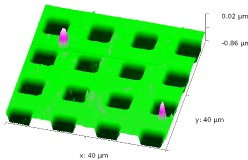 SA AFM 2 pm measuring of semiconductors and other micro-fabricated devices